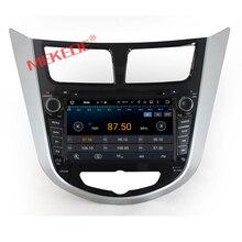 Livraison gratuite Android 7.1Car GPS pour Hyundaii Solaris Accent Verna avec stéréo Audio voiture 2din DVD pour Solaris Navigation DVR OBD