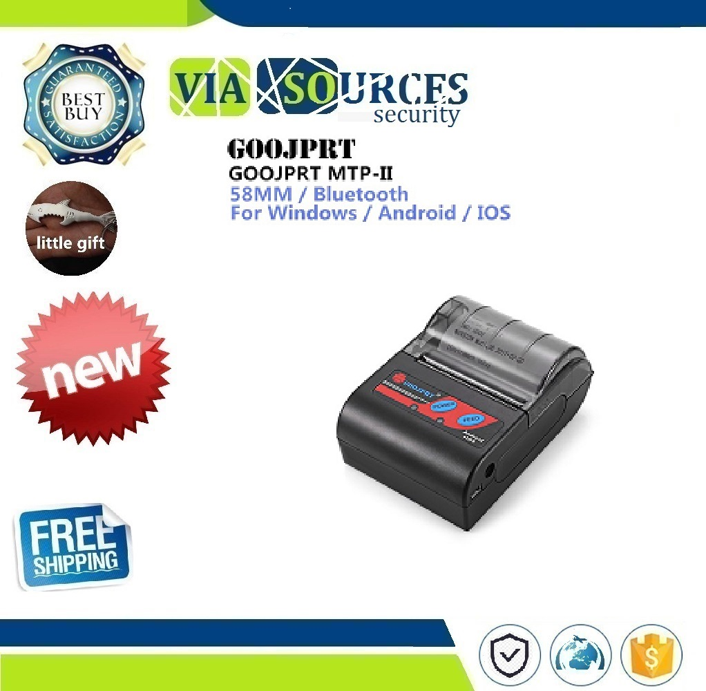 GOOJPRT MTP-II 58mm Portablle Android Bluetooth Thermal Printer Receipt Printer For Mobile POS Printer Bluetooth Ticket Printer