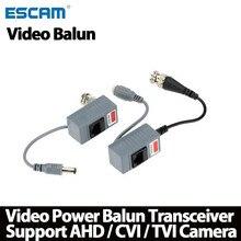 ESCAM 10pcs accessori per telecamere CCTV ricetrasmettitore Balun Audio Video BNC UTP RJ45 Balun Video con alimentazione Audio su cavo CAT5/5E/6