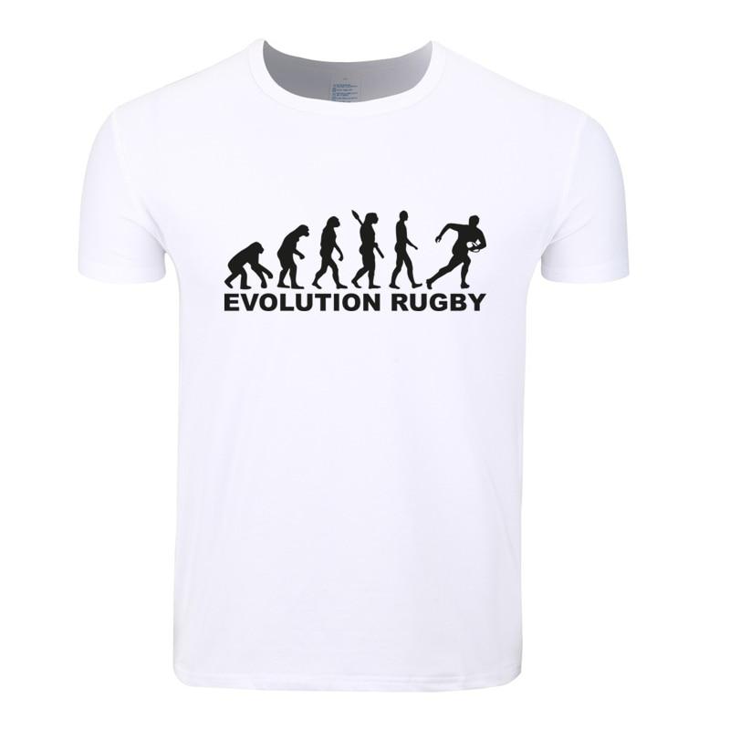 Asian Size Men Print Evolution Rugbying T-shirt O-Neck Short Sleeves Summer Casual Sporting Fan T-shirt Streetwear HCP4031