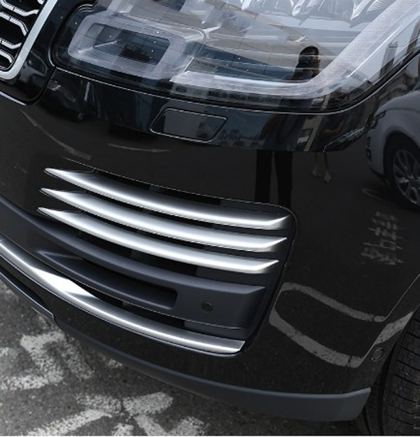 ABS Chrome Car Front Fog Light Grille Cover Trim Decoration For Land rover Range Rover Vogue