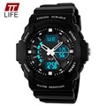 TTLIFE Analog Digital Silicone Watch Men Waterproof Multifunctional Digital Watches Sports Military Male Rubber Wrist Watch 2017