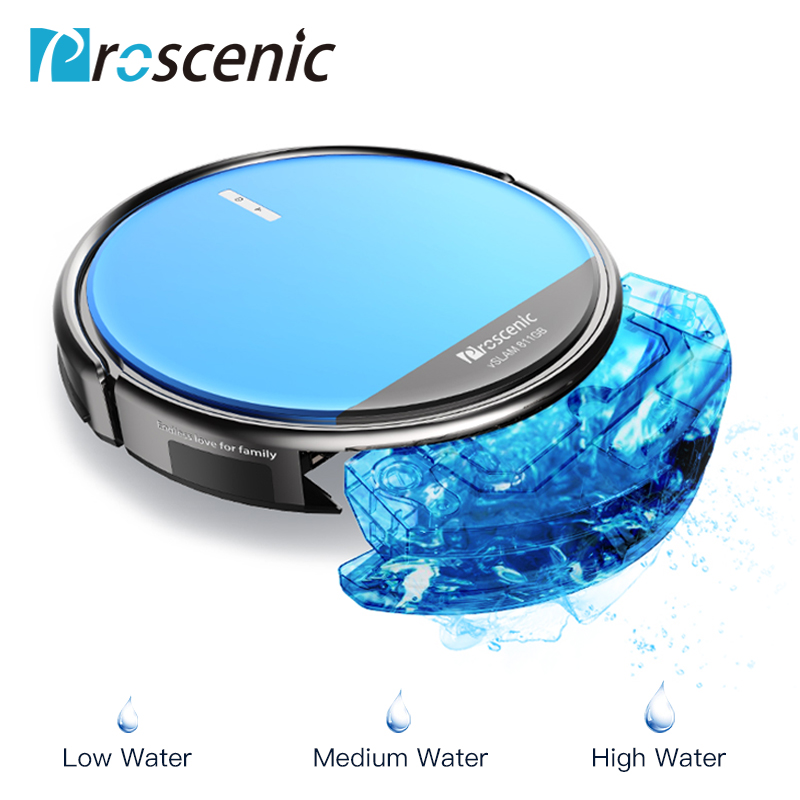 Proscenic 811GB Wifi Robot Vacuum Cleaner Floor Dust Auto Sweeping Cleaning Carpets Animal Hair Vacuum Cleaner Wiper Robot image