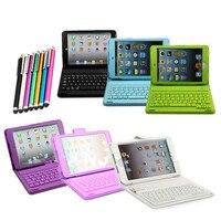 Para soft 3d ipad mini case teclado sem fio bluetooth suporte pu leather case capa para ipad mini 1 2 3 4 + free stylus caneta