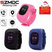 Купить с кэшбэком SZMDC Q50 GPS SOS Children Tracker 2G Phone Call Kids Smartwatch LCD Display Smart Watch For Children Safety With SIM Card Slot