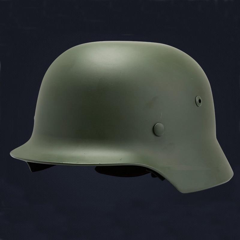 Combat German M35 Helmet Luftwaffe Steel Helmet Black Tactical Airsoft Helmet Military Special Force Safety Equipment tactical helmet german army classic burgomasters od m35 military police outdoor cs war game airsoft paintball steel helmet