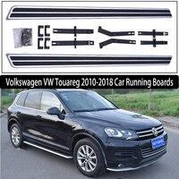 JIOYNG Para Volkswagen VW Touareg 2010 2018 Bar Passo Lado Estribos Auto Pedais Do Carro Marca Nova Nerf Bares estilo OEM|Barras e estribos|   -