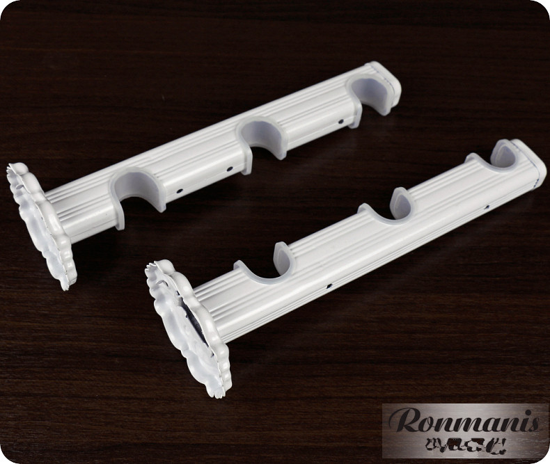 2 PCS High Quality White Curtain Rod Drapery Poles Curtain