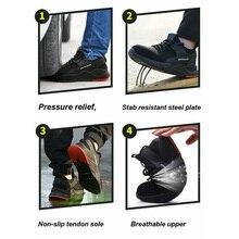 1 пара тяжелых кроссовок защитная Рабочая обувь дышащие противоскользящие проколы для мужчин SMN88