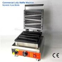 Электрический Lolly вафли машина коммерческих сосна Форма вафельница таймер Температура контроллер 220 В 110 В 1500 Вт 4 формы