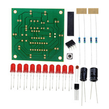 Round Lucky Rotary Suite Electronic Component Fortune CD4017 NE555 Interesting DIY Kit Wheel Electronic Parts