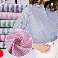 New Upscale Clothing Material DIY Handmade Sewing Color Stripe Oxford Cloth Fabric 100 Cotton Width145cm Retail
