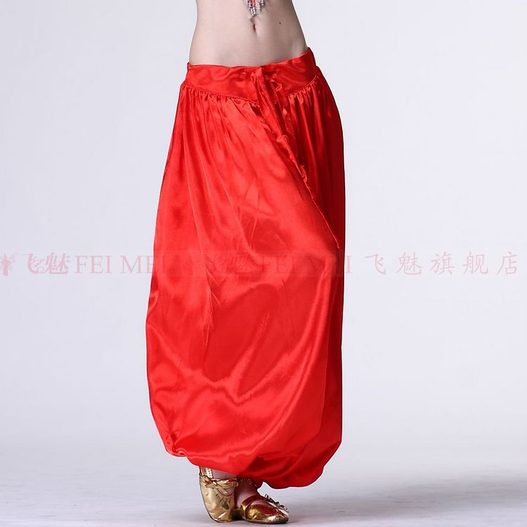 New Belly Dance Costumes Senior Stain Belly Dance Pants For Women Belly Dance Lantern Trousers