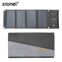 Xionel 28W Waterproof Portable Solar Charger with Solar Panel Dual USB Ports for Mobile Phone