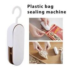 Snacks Vacuum Sealer Packaging Bag Clips Heat Sealing Machine Hand Pressure Food Freshness Creative Practical White