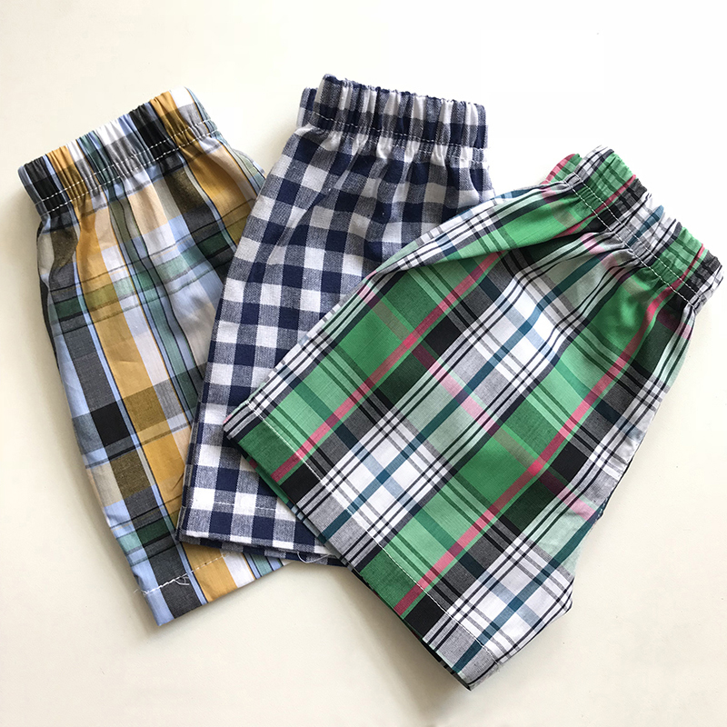2018 New Fashion Kids Clothing Baby Boys Cotton Shorts Striped Plaid Children Pants Teenagers Beach Loose Shorts 1-5 Year striped wide leg shorts