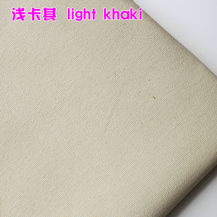 Thick Canvas Light Khaki Cotton Duck Fabric Cotton Fabric Canvas Fabric 60