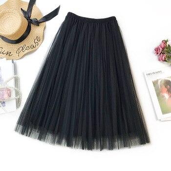 24cd06ad5 Faldas plisadas florales informales de gasa elástica de alta cintura 2019  faldas de Primavera de ...