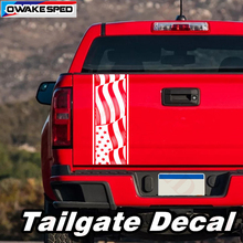 American Flag Graphics Decals Truck Tailgate Sticker Pickup Trunk Car Tail Decor Stickers Auto Body Accessories