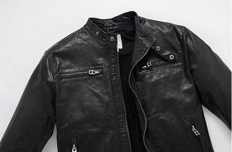 Dermis Leather Jacke Men Genuine Sheepskin/Suede Leather Jacket Fashion Brand Design Casual Slim Biker Motorcycle Coat Jaqueta 3