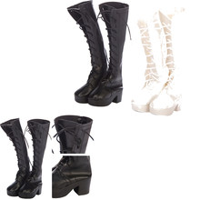 Hot SALE 1 Pair doll high boots shoes for 60cm doll party daily shoes(China)