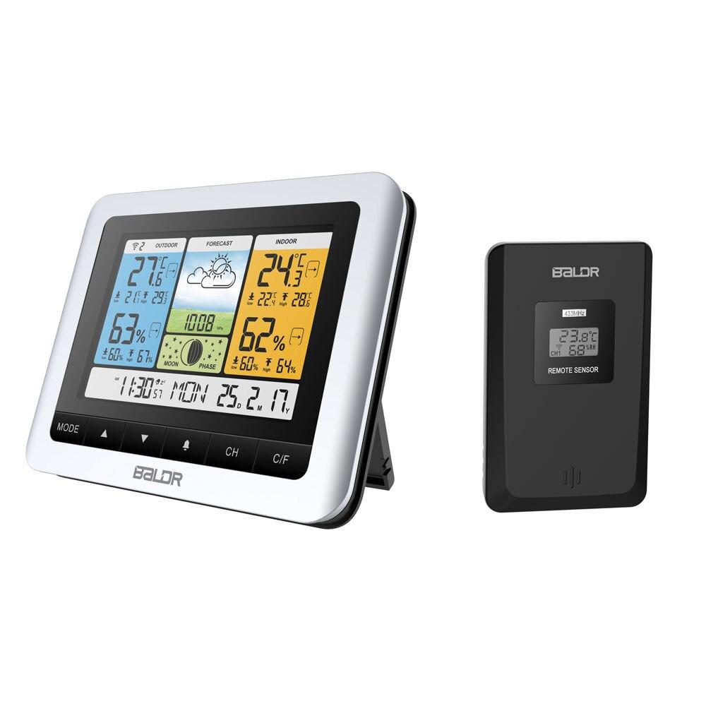 Image 2 - Baldr Wireless Weather Station Temperature Sensor Barometer  Forecast  Digital Outdoor Indoor Thermometer Hygrometer Alarm  Clockindoor outdoorthermometer wallwall thermometer