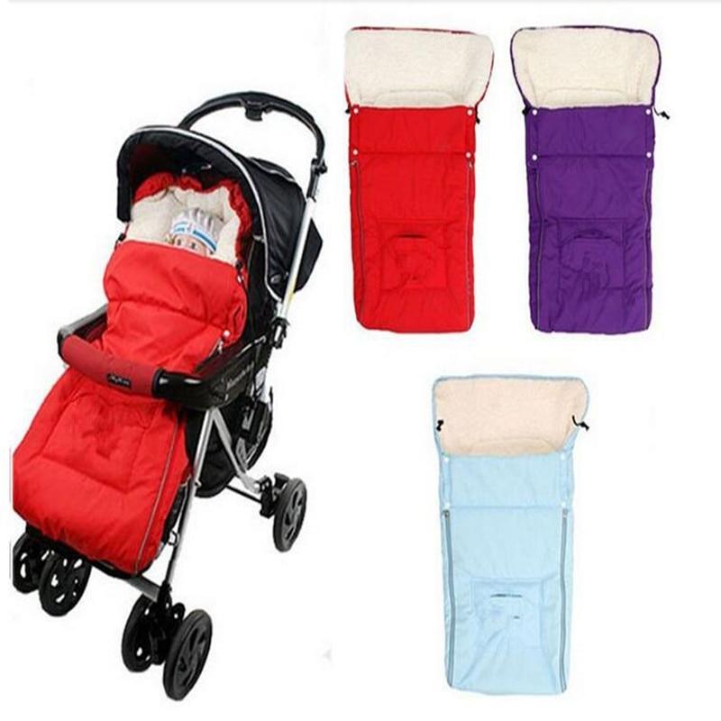 उच्च गुणवत्ता 3 रंग घुमक्कड़ स्लीपिंग बैग स्लीपर्स के लिए घुमक्कड़ शिशु फ्लेबाग मोटी सर्दियों के कृत्रिम ऊन पनरोक के लिए