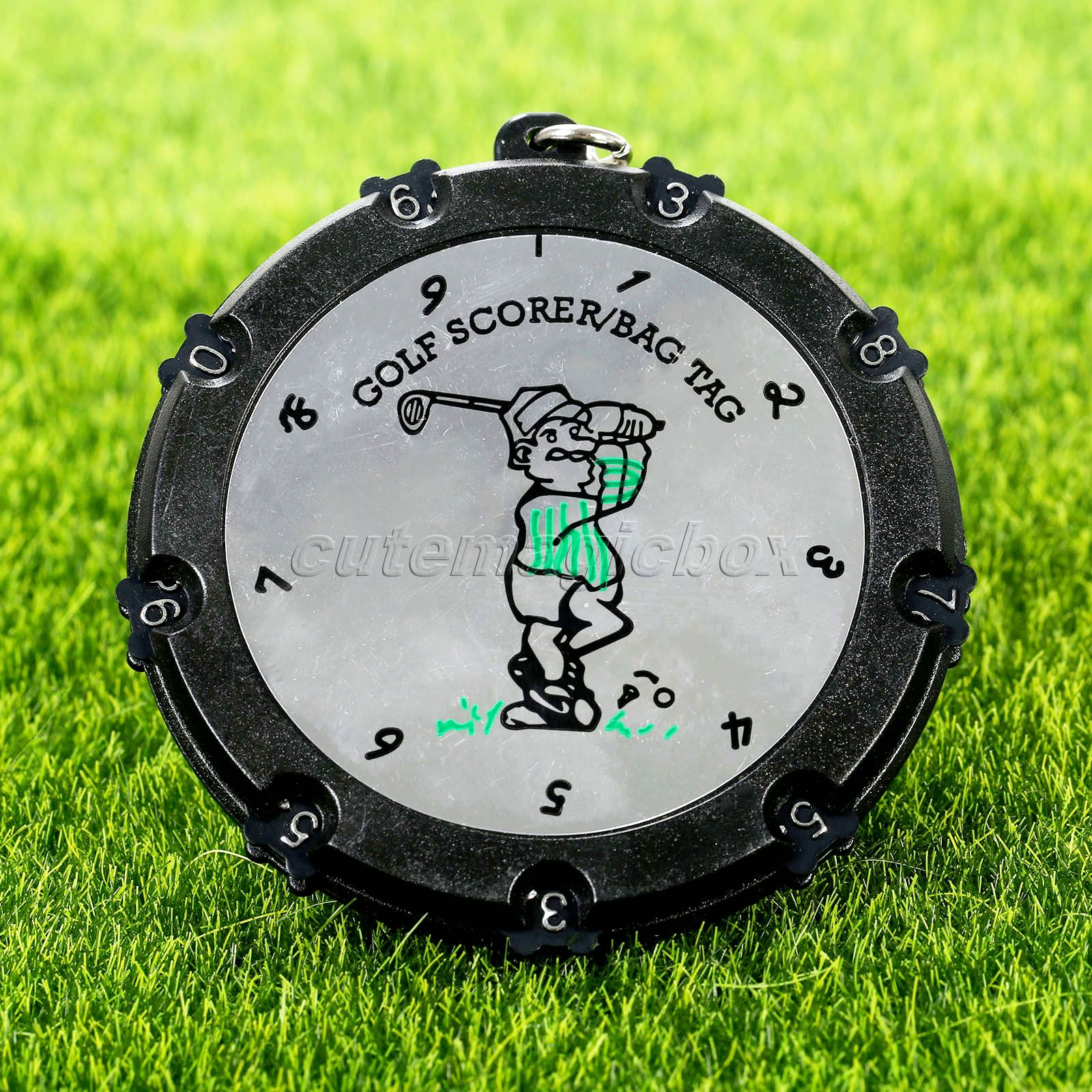 1Pc Golf Training Aids 18 Hole Golf Stroke Shot Putt Scoring Tag Keeper Score Counter With Key Chain Golf Accessories Keychains