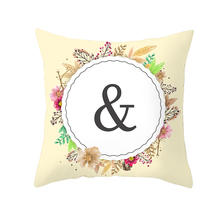 English Letters pillowcase 45*45cm square Pillowcase Home Textile Fashion Nordic Style pillow cover