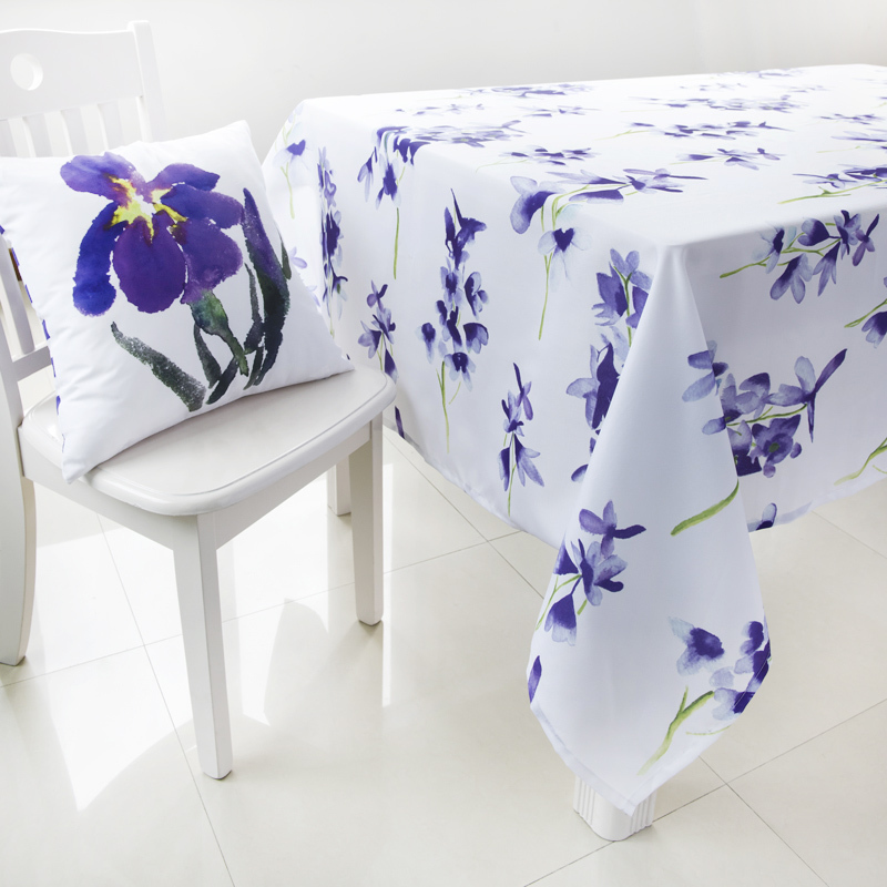 140X240cm New Modern Watercolor Painting Flower Printed Table