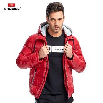 MALIDINU 2020 New Men Down Jacket Winter Jacket Mens 70%White Duck Down Winter Down Coat Thick Warm Coat Brand Free Shipping цена 2017