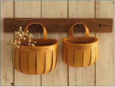 Cesta de supermercado de armazenamento de madeira feitos à mão vasos de plantas suculentas. cesta de suspensão. caixa de armazenamento. casa acessórios de decoração