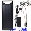 36V 30AH Электрический велосипед батарея 36V комплект литий-ионных батарей использовать LG сотовый 36V 250W 350W 500W 1000W ebike батарея + багажная стойка