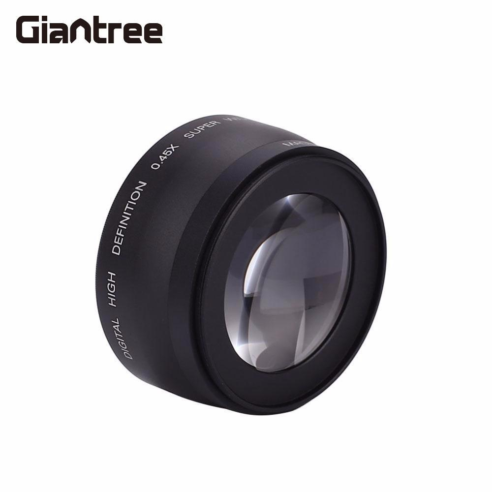giantree 52MM 0.45X Wide Angle Lens Camcorder Accessories Products Black For Nikon Camera стоимость