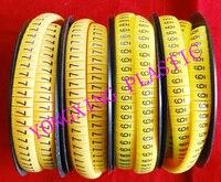 4 рулона/много плоский Кабель маркер EC-J 5.0-10.0 квадратный метр желтый цвет