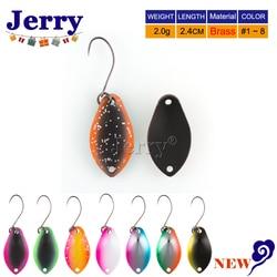 Jerry 2g trout löffel messing spinning angeln löffel pesca micro metall lockt bereich trout fishing ultraleicht