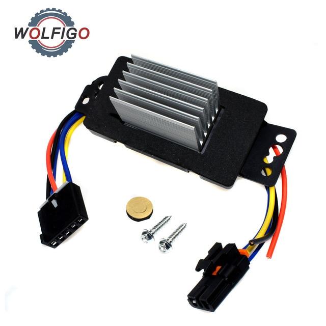 Wolfigo New Hvac Blower Motor Resistor With Plug Harness 15850268  For Pontiac Chevrolet
