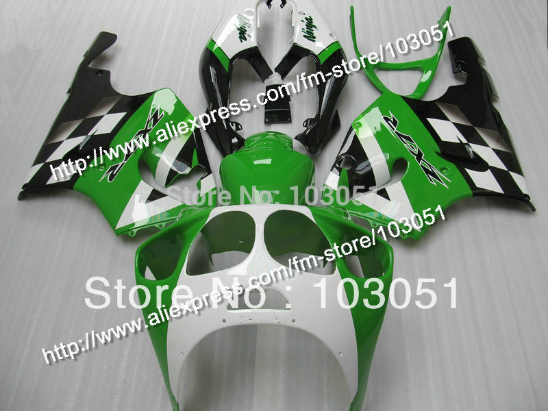 Custom for kawasaki fairing kits1996-2003 ZX7R fairings ninja ZX 7R 96 97 98 99 00 01 02 03  glossy black white green SN27