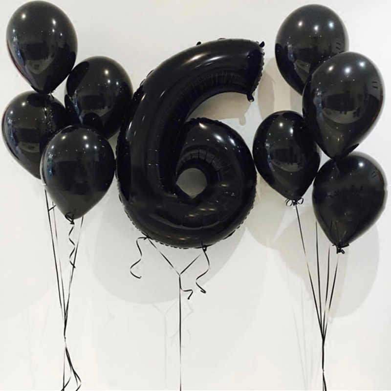 16 32 polegada Número Folha De balão De Hélio balões Do Chuveiro de Bebê Rosa Prata Ouro Azul Vermelho Dígitos Globos Festa de Aniversário de Casamento balão