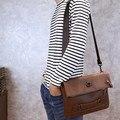 Drand! Hot venda Nova moda café sacos de homens de couro crazy horse pu pequena bolsa de ombro bolsa homens messenger bag crossbody saco do lazer