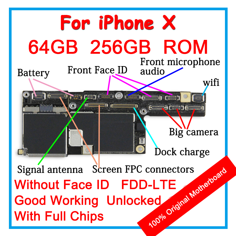 16gb 32gb 64gb 128gb 100 Original Motherboard For Ipad 5 Air 1 2 Logic Board Diagram 256gb Iphone X 10 Unlocked Mainboard Without Face Id Ios