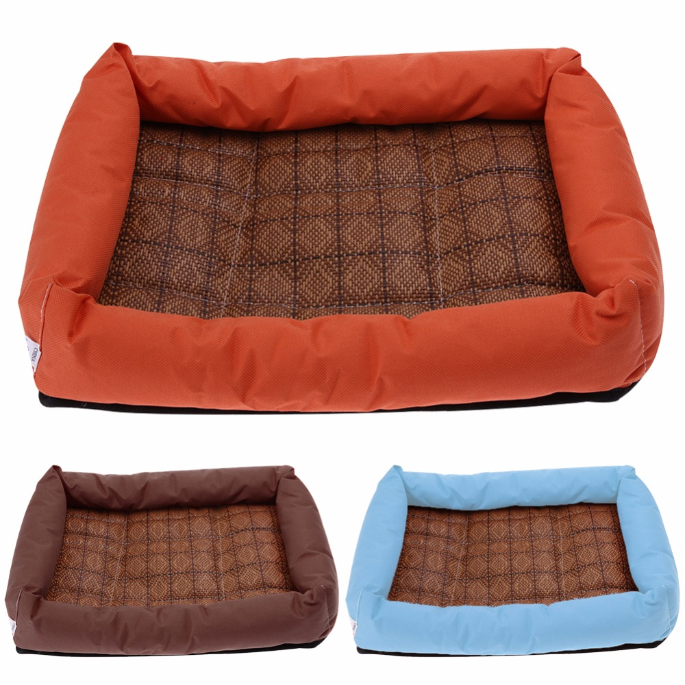 summer pet bamboo cooling mat bed for small medium large dog animal cats cooling bed cushion