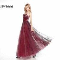 Настоящая фотография Новое поступление торжественное вечернее платье 2019 Тюль 3D цветок Длинные вечерние платья Vestido festa vestido de festa