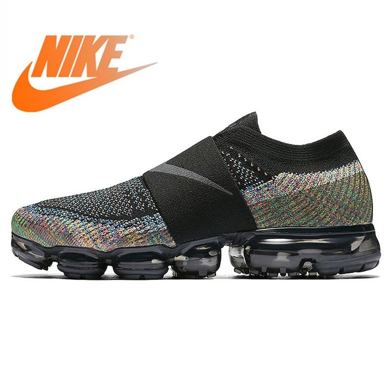e8ec49d750aa Original Authentic Nike Air VaporMax Moc Rainbow Cushion Men s Running  Shoes Sports Sneakers Outdoor Breathable durable AH3397