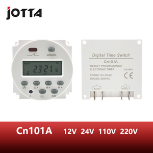 CN101A LCD time switch 12V 24V 110V 220V Time Relay Street lamp billboard power supply timer WITHOUT waterproof box(China)
