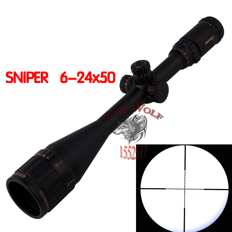 SNIPER 6-24X50 Sight Rifle Scope Tactical Optics Tactical Telescopic Sight outing Hunting цена
