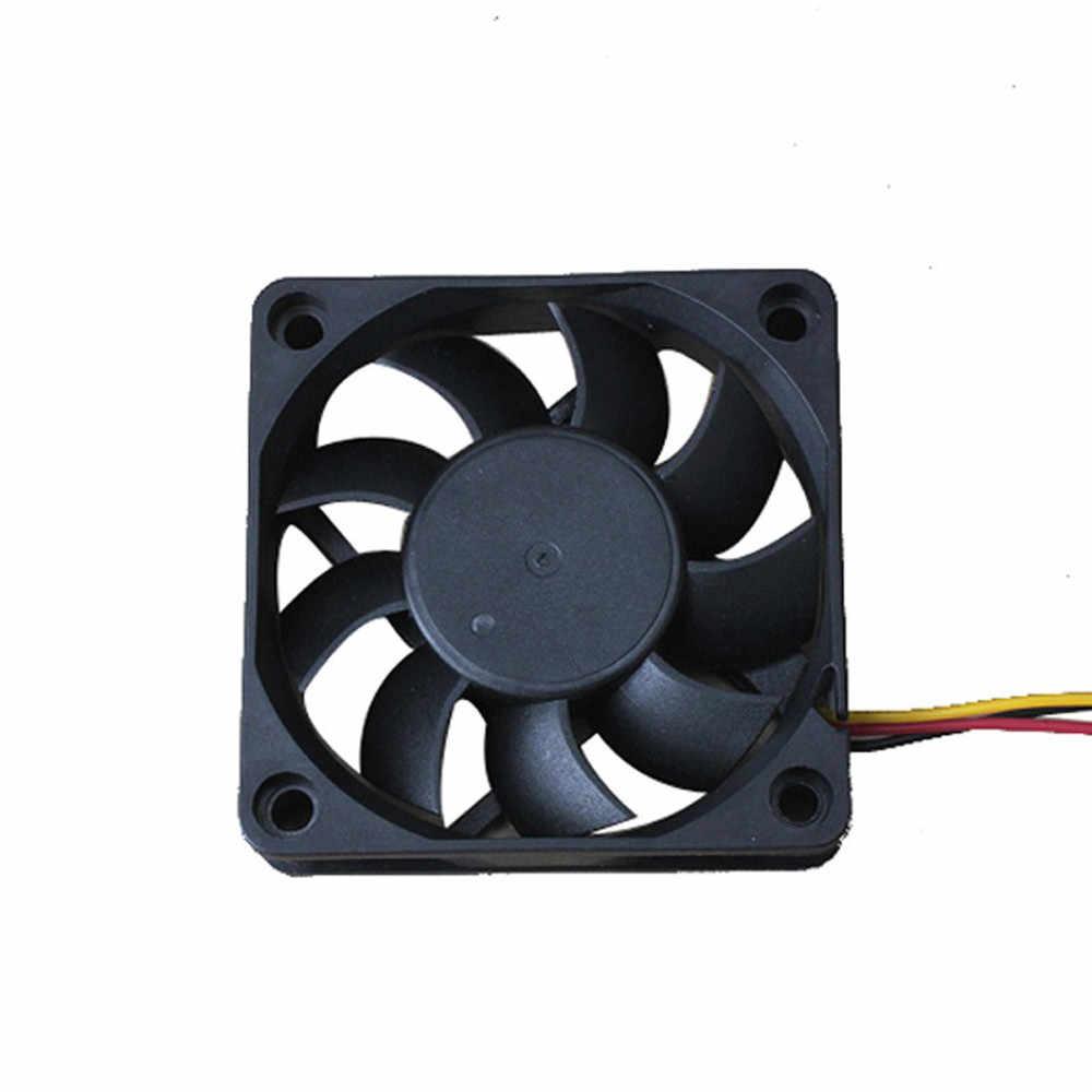 Quiet 7 ซม./70 มม./70x70x15mm 12 V คอมพิวเตอร์/PC/CPU เงียบ Cooling Case พัดลมสีดำ 12 V 3 - Pin # H20
