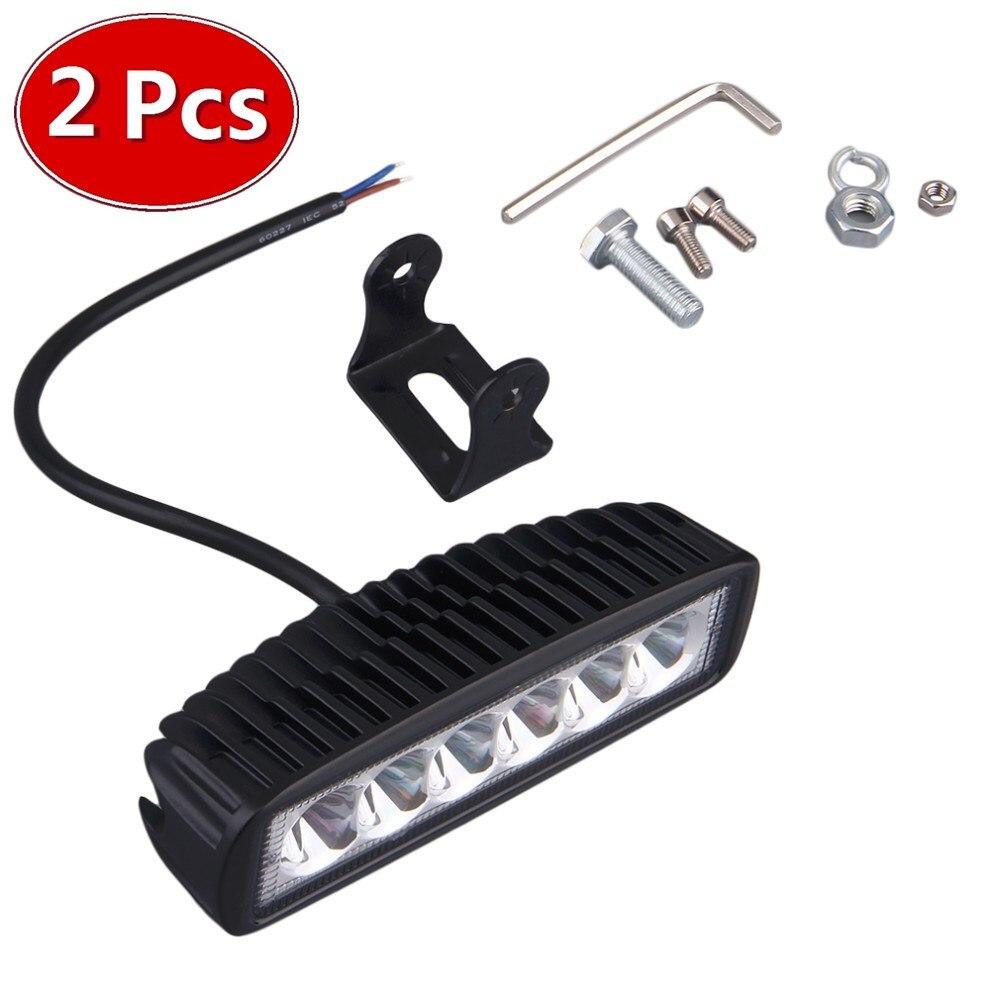 2 piezas 18 w DRL LED luz de trabajo 10-30 V 4WD 12 v carcasa de plástico para fuera de carretera autobús de camión Barco de la luz de niebla de la luz del coche de la Asamblea