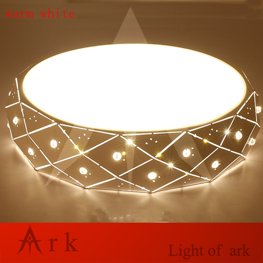 Remote control wireless modern Minimalism Diamond ceiling lamp iron metal LED flush mount ceiling light living room bed room
