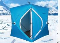 3 4 Person UV Winter Ice Fishing Tent Plus Cotton Beach Car Outdoor Camping Anti Snow Waterproof Automatic Ice Fishing Tent